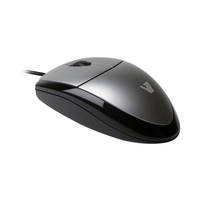V7 Optical LED USB Mouse Computermuis - Zwart,Zilver