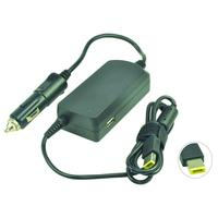 2-Power DC Car Adapter 20V 3.25A 65W Netvoeding & inverter - Zwart