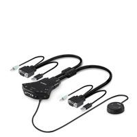 Belkin Secure Flip 2-Port VGA KVM w/Audio and Remote Controller KVM switch - Zwart