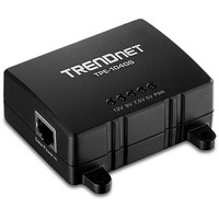 Trendnet 1x Gigabit data/power in, 1x Gigabit data out, 1x Power out, LED Netwerk splitter - Zwart