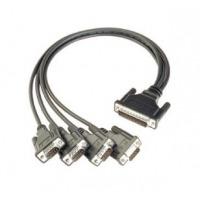 Moxa CBL-M44M9x4-50 Câble série - Noir