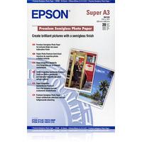 Epson Premium Semigloss Photo Paper, DIN A3+, 250g/m², 20 Vel Fotopapier - Wit