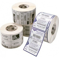 Zebra 8000T Z-Destruct Vinyl, 76.2 x 76.2mm, 100 Labels Per Roll Etiket - Wit