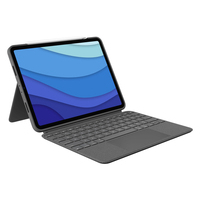 Logitech Combo Touch for iPad Pro 11-inch (1st, 2nd, and 3rd generation) - QWERTY - Gris