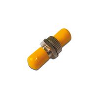 Digitus FO coupler, simplex, ST to ST, SM ceramic sleeve, metal housing, yellow dust caps Glasvezel-adapters - .....