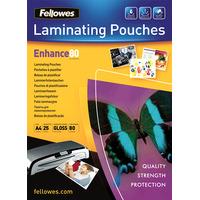 Fellowes 80 micron glanzend A4, 25 pak Lamineerhoes