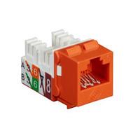 Black Box GigaTrue® 2 UTP Cat6 Keystone Jack - 110 Punchdown Type - Oranje,Wit
