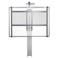 Conen Mounts electrically height-adjustable mount, Silver anodized - Noir, argent