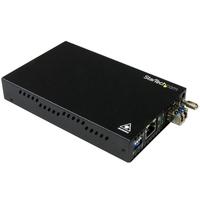 StarTech.com Convertisseur de média fibre optique Gigabit Ethernet - Monomode LC - 20 km Convertisseur .....