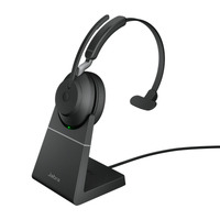 Jabra Evolve2 65, USB-A UC Mono met oplaadhouder Headset - Zwart