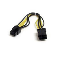 StarTech.com Câble d'extension d'alimentation PCI Express 6 broches 20 cm - Noir,Jaune