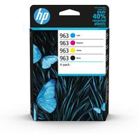 HP 963 4-pack origineles zwart/cyaan/magenta/geel Inktcartridge - Zwart,Cyaan,Magenta,Geel