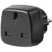 Brennenstuhl Travel Adapter GB/earthed Adaptateur de puissance & onduleur - Noir