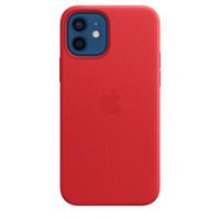 Apple Coque en cuir avec MagSafe pour iPhone 12 | 12 Pro - (PRODUCT)RED - Rouge