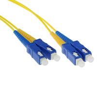 ACT 0,5 meter LSZH Singlemode 9/125 OS2 glasvezel patchkabel duplex met SC connectoren Fiber optic kabel - Geel