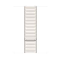 Apple Leather Link-bandje - Kalkwit (44 mm) - M/L