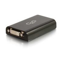 C2G USB 3.0 to DVI Video Adapter - External Video Card - Noir
