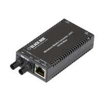 Black Box MultiPower Miniature Media Converter - 10-/100-Mbps Copper to 100-Mbps Fiber, 1310-nm Single-Mode, .....