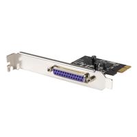StarTech.com 1 Parallelle Poort PCI Express Full/Low Profile Adapterkaart SPP/EPP/ECP Interfaceadapter