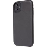 Decoded Leather Backcover iPhone 11 - Zwart - Zwart / Black