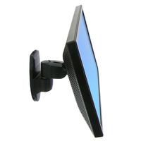Ergotron 200 Serie Series Wall Mount Pivot Monitorarm - Zwart