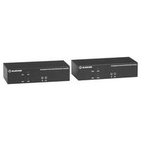 Black Box KVM EXTENDER OVER CATX 4K DUAL-HEAD DISPLAYPORT USB 2.0 - Noir