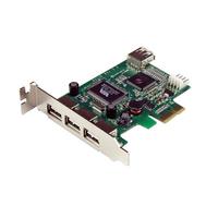 StarTech.com 4-poort PCI Express Low Profile High Speed USB-kaart Interfaceadapter - Groen