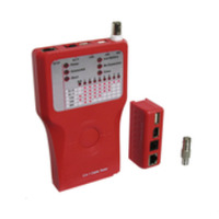Microconnect Network Tester f/ RJ11/12/45, USB, IEEE1394, BNC Cable network tester - Rood