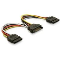 DeLOCK Cable Power SATA 15pin > 2x SATA HDD – straight