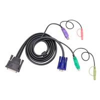 Aten 16ft PS/2 KVM kabel - Zwart