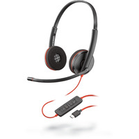 POLY Blackwire C3220 Headset - Zwart, Rood