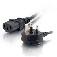 C2G RU AWG 16 (IEC320C13 à BS 1363) de 2M Cordon d'alimentation - Noir