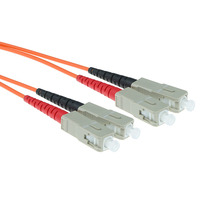 ACT SC-SC 50/125um OM2 Duplex 1.5m (RL3551) Fiber optic kabel - Oranje