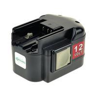 2-Power Power Tool Battery 12V 2000mAh NiMH for Milwaukee 48-11-1900 - Noir