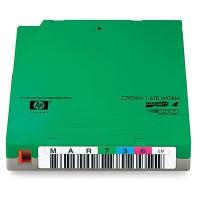 Hewlett Packard Enterprise custom gelabelde tapes LTO4 Ultrium Datatape - Groen