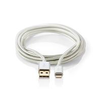 Nedis Câble de Synchronisation et de Charge, 1,0 m Plaqué Or, USB-A Mâle vers Câble Lightning Mâle 8 Broches, .....