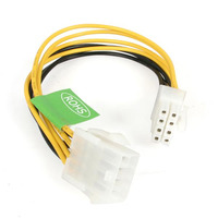 StarTech.com 8in EPS 8 Pin Power Extension Cable - Jaune