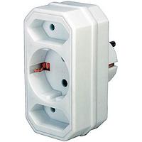 Brennenstuhl Adapter with 2 + 1 sockets Adaptateur de puissance & onduleur - Blanc
