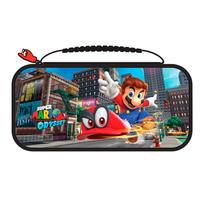Bigben Connected Officiële Nintendo Switch travelcase met Super Mario Odyssey - Muntkleur