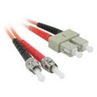 C2G 3m ST/SC LSZH Duplex 62.5/125 Multimode Fibre Patch Cable Fiber optic kabel - Oranje