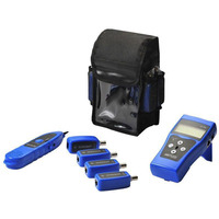 Lanview Network cable tester with 8 x RJ45/BNC probes and tracer Cable network tester - Zwart,Blauw