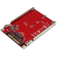 StarTech.com M.2 schijf naar U.2 (SFF-8639) host adapter voor M.2 PCIe NVMe SSDs Interfaceadapter - Rood