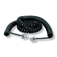Black Box Coiled Handset Cord Telefoon kabel - Zwart