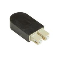 Black Box Bouclage fibre optique Adaptateurs de fibres optiques - Noir
