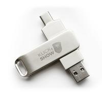 Kindermann Klick & Show USB A/C Drive, - Zilver