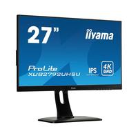 """Iiyama ProLite 27"""", 4K UHD, 300 cd/m², DVI, HDMI, USB 3.0, 100 - 240 V, 50/60 Hz Moniteur - Noir"""