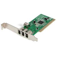StarTech.com 4-poort PCI 1394a FireWire Adapter Kaart 3 Extern 1 Intern Interfaceadapter - Groen,Metallic