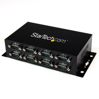 StarTech.com 8-poort USB naar DB9 RS232 Seriële Adapter Hub Industriële DIN-rail en Wandmontage Interface .....