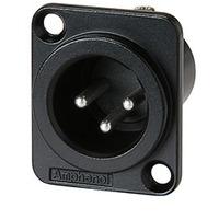 Amphenol XLR Chassis Male Type D 3P Kabel adapter - Zwart