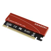 Axagon PCEM2-S PCIe NVMe M.2 adapter Interfaceadapter - Zwart,Rood